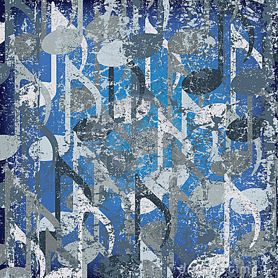 Abstract cracked background musical note