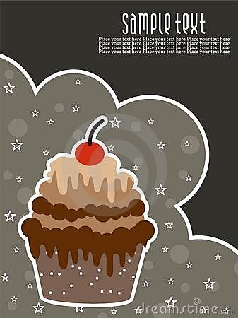 Abstract creative birthday background with cake