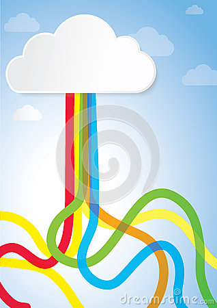 Abstract Creative Concept for Story book, Internet, Cloud Computing, Creativity and Business