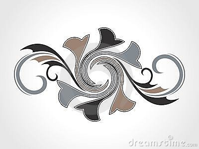 Abstract creative decorative element