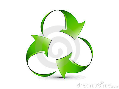 Abstract creative glossy recycle icon