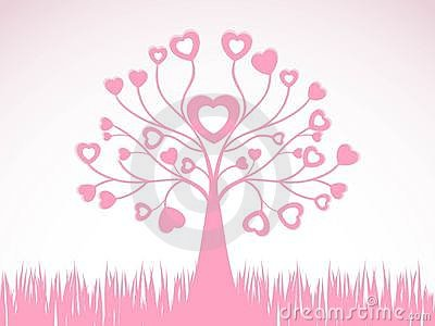 Abstract  creative heart tree design