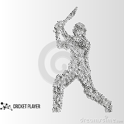 Free Abstract Cricket Player Stock Photography - 69905122