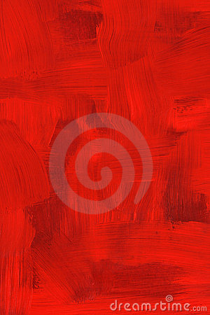 Abstract crimson oil painting