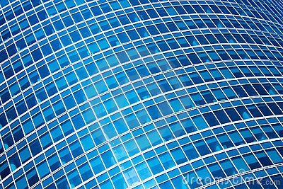 Abstract crop of modern office