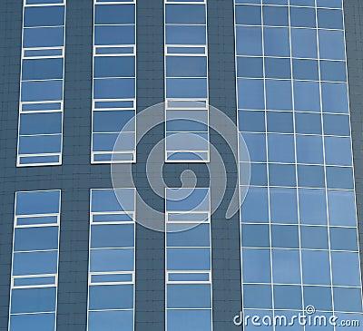 Abstract crop of modern office skyscraper.
