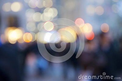 Abstract Crowd and Lights
