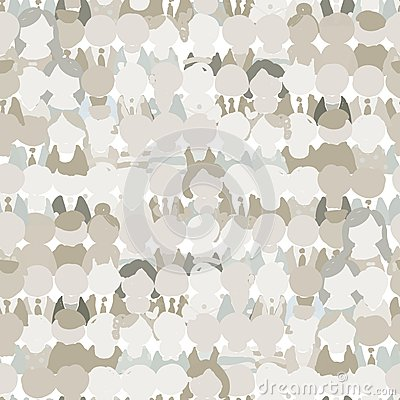 Free Abstract Crowd Of Peoples, Seamless Pattern For Stock Photos - 36891663