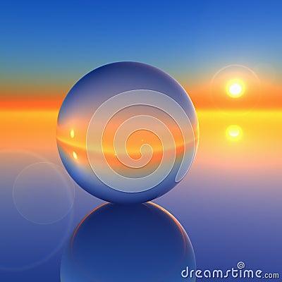 Free Abstract Crystal Ball On Future Horizon Royalty Free Stock Photo - 7703865