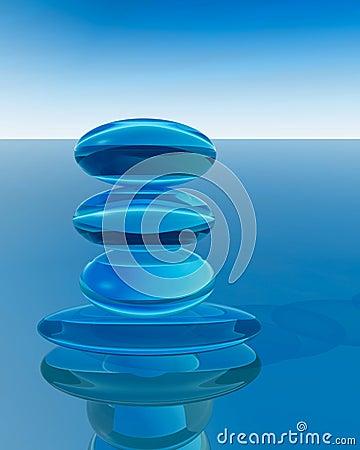 Abstract Crystal Zen
