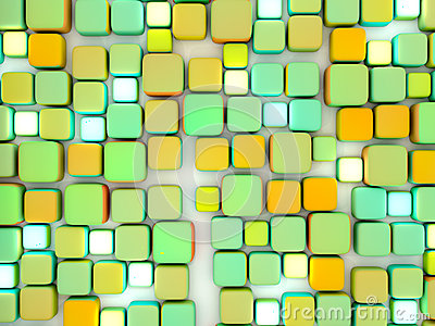 Abstract Cubes Colorful Top