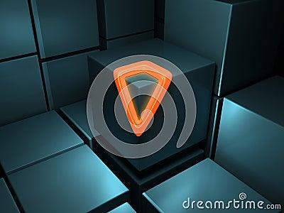 Abstract Cubes Orange Glow