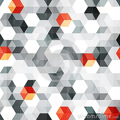Free Abstract Cubes Seamless Pattern With Grunge Effect Royalty Free Stock Photo - 33052875
