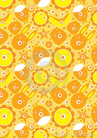 Abstract Cute Cartoon Backgroud_eps