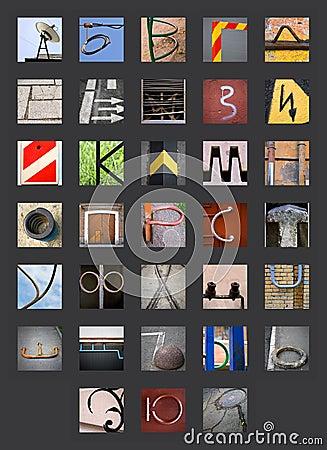 Abstract Cyrillic Russian alphabet