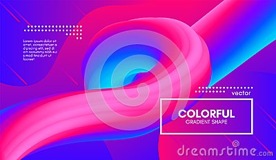 Abstract 3d Background. Colorful Wave Fluid Shape. Vector Illustration