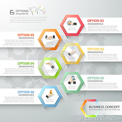Abstract 3d Infographic Template 6 Steps, Stock Vector - Image ...