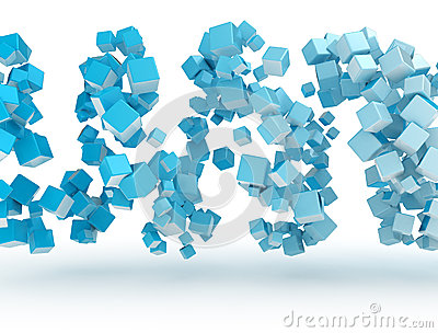Abstract 3d metal cubes