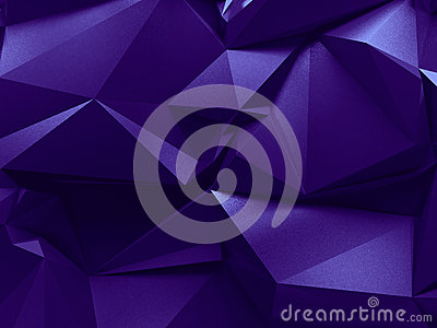 Abstract 3d purple crystallized background