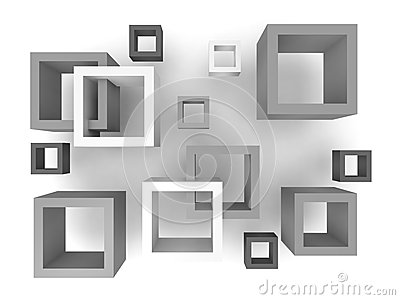 Abstract 3D Squares