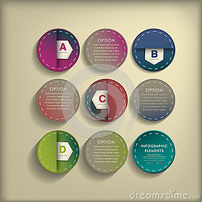 Abstract 3d tag infographics