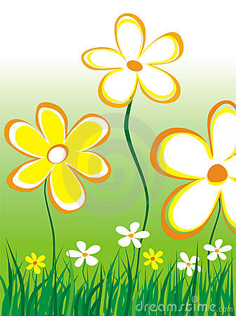 Free Abstract Daisies Illustration Stock Photography - 151542
