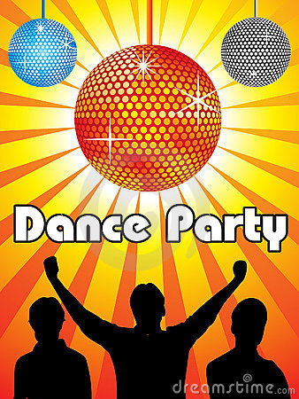 Abstract dance party design
