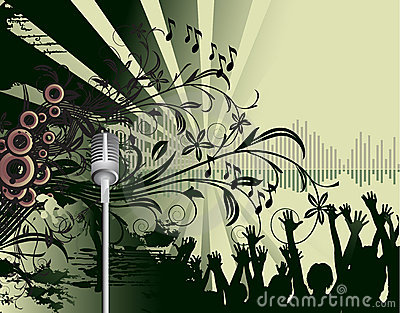 Stock Images: Abstract dance party poster