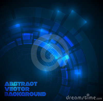 Free Abstract Dark Blue Technical Background Royalty Free Stock Photos - 18253708