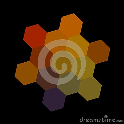 Free Abstract Dark Colorful Hexagons - On Royalty Free Stock Photo - 46393775