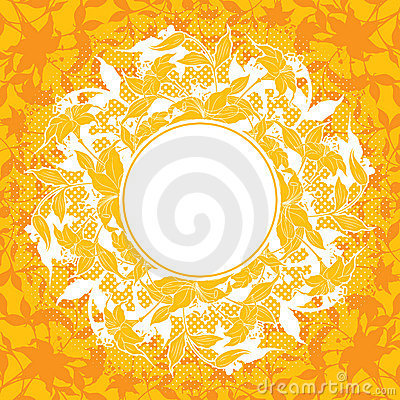 Abstract decoration with flower elements, vector illustration