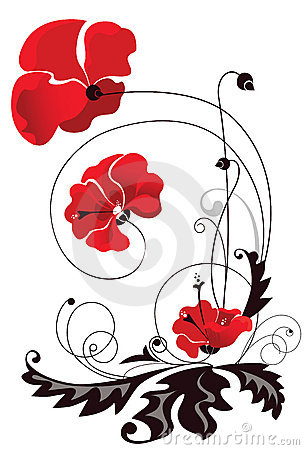Abstract decorative flowers