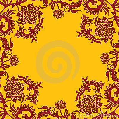 Abstract decorative ornamental background with flower, vector il