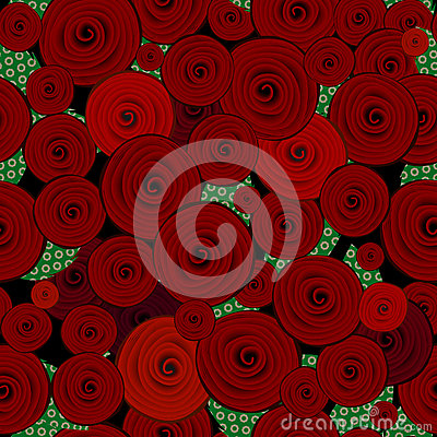 Abstract decorative roses pattern