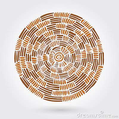 Free Abstract Decorative Wooden Striped Textured Weaving. Vector Doodle Stock Photo - 61504630