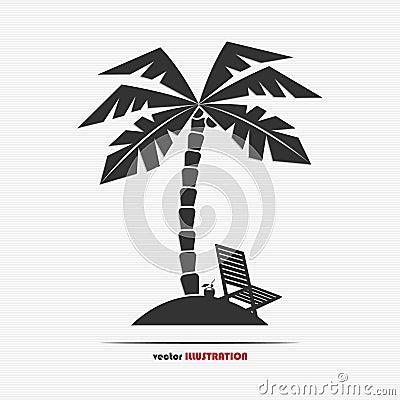 Abstract desert island web icon