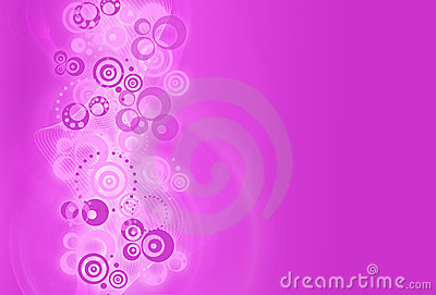 Abstract design background with  circles