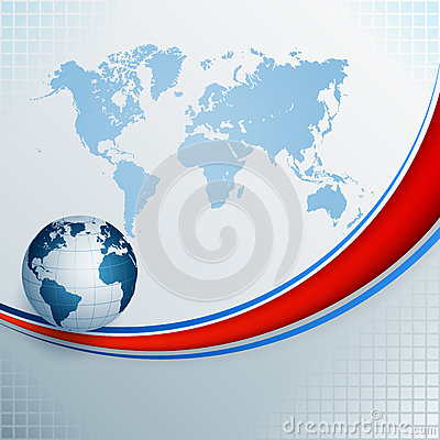 Free Abstract, Design Background With World Map And Earth Globe Stock Photography - 66585652