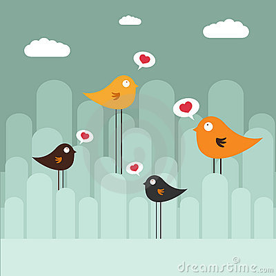 Abstract design with birds