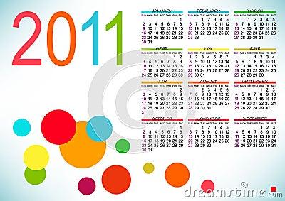 Abstract design of calendar