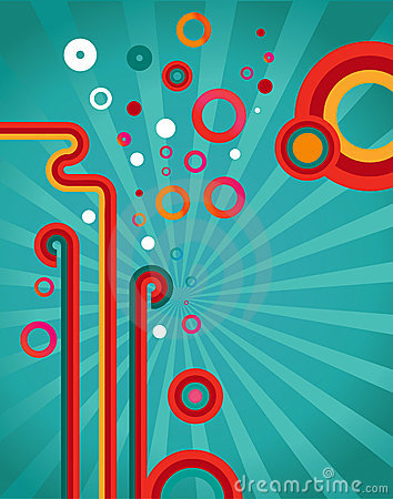 Abstract design retro background