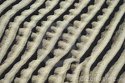 Abstract Design in Sand