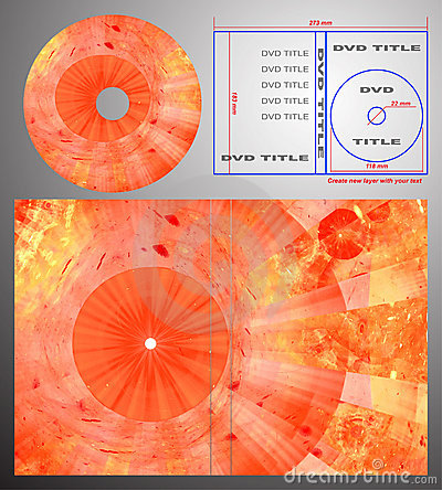 Abstract design template for dvd label and box-cov