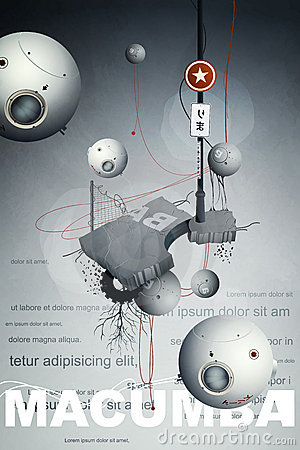 Abstract design with wires,