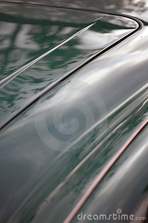 Abstract detail of classic British car trunk