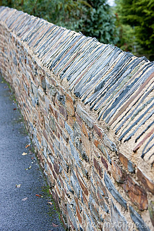Abstract Diagonal View of Textured Stone wall