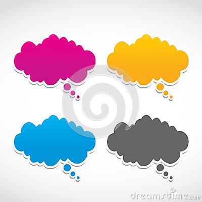 Abstract dialog clouds