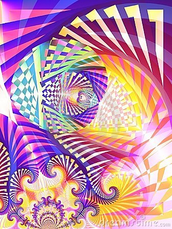 Abstract Digital Art Collage