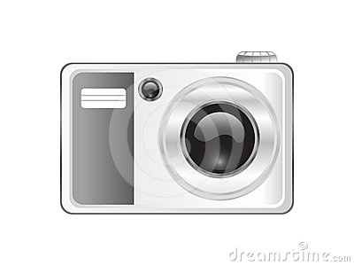 Abstract digital camera icon