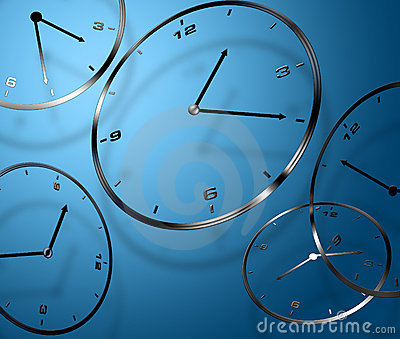 Abstract digital clocks